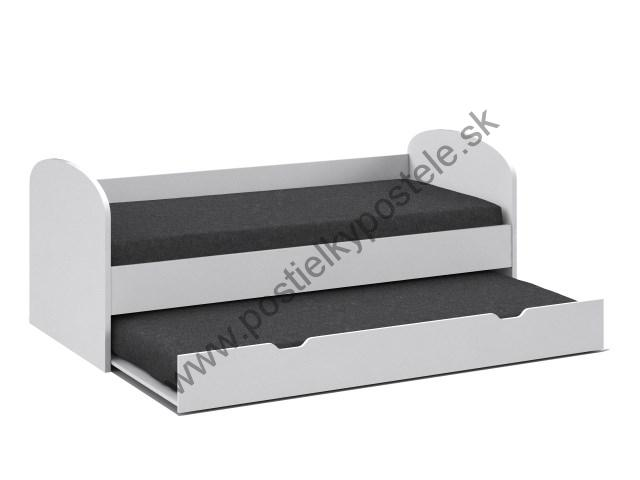86690992db96 REA ABRA  biela  posteľ s rozkladom  90 x 200 cm