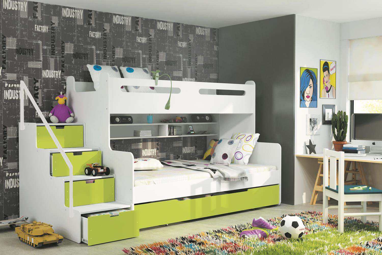 Modern a lacn detsk poschodov postele s pr stelkou na for Jugendzimmer stockbett